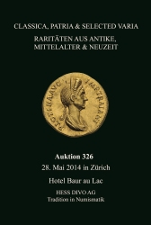 Cover Auktion 326- Hess Divo AG Zürich