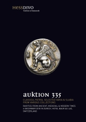Cover Auktion 335 - Hess Divo AG Zürich